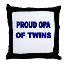 PROUD OPA OF TWINS 2 Throw Pillow
