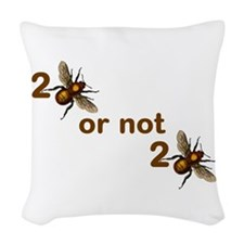To Bee or Not! Woven Throw Pillow