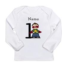 Personalized Superhero One Long Sleeve T-Shirt