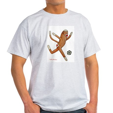 Soccer Monkey Ash Grey T-Shirt