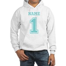 Blue Number One Hoodie Sweatshirt