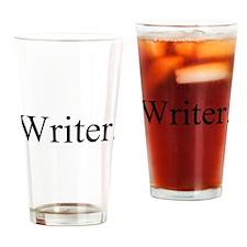 Writer. Black Drinking Glass