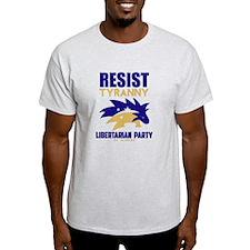 Resist Tyranny Yellow T-Shirt