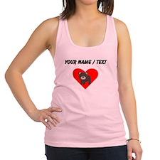 Cartoon Bear Heart Racerback Tank Top