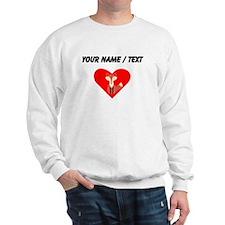 Cartoon Fox Heart Sweatshirt