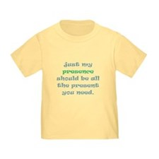 presence gift toddler t-shirt