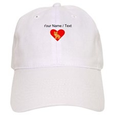 Cartoon Tiger Heart Baseball Baseball Cap