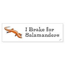 I brake for salamanders! Bumper Bumper Sticker