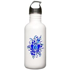 Russian ornaments, Gzhel. Sports Water Bottle