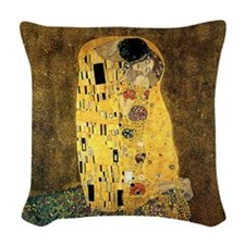 The Kiss Woven Throw Pillow