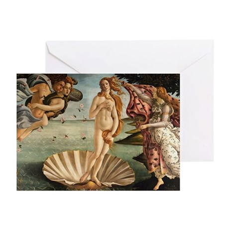 The Birth Of Venus Greeting Cards (Pk of 20)
