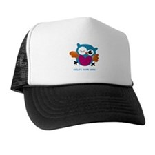 Editable Owl Print Hat