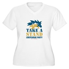 Resist Tyranny Yellow Plus Size T-Shirt