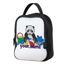 Personalized Beach Panda Neoprene Lunch Bag