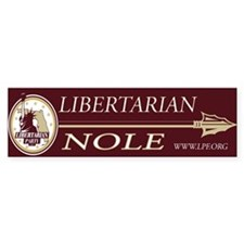 Libertarian Noles Bumper Bumper Sticker Bumper Bumper Sticker
