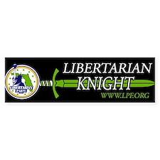 Libertarian Knight Bumper Bumper Sticker Bumper Bumper Sticker