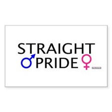 Straight Pride Rectangle Decal