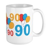 Happy 90th birthday Large Mugs (15 oz)