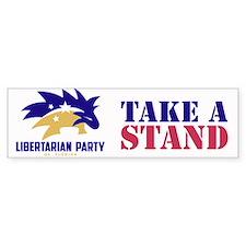 Libertarian Take A Stand Bumper Sticker Bumper Sti