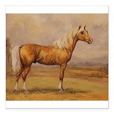 "Palomino Horse Square Car Magnet 3"" x 3"""