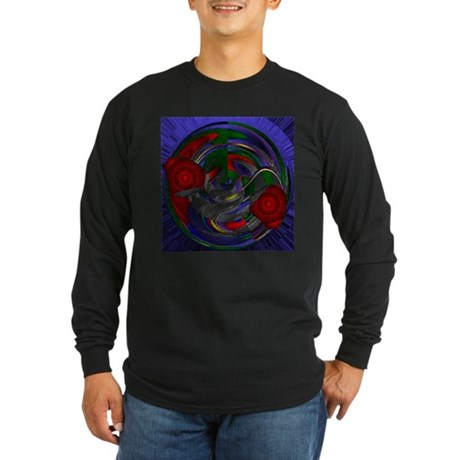 Abstract 005 Long Sleeve Dark T-Shirt