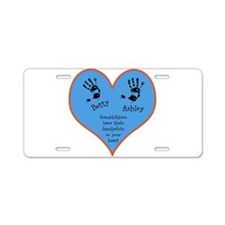 Grandchildren leave their handprints - 2 kids Alum