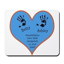 Grandchildren leave their handprints - 2 kids Mous