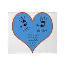 Grandchildren leave their handprints - 2 kids Thro