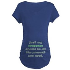 presence gift maternity dark t-shirt (belly)