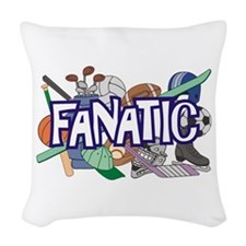Sports Fanatic Woven Throw Pillow