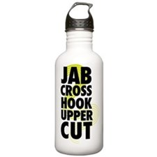Jab Cross Hook Upper-cut Water Bottle