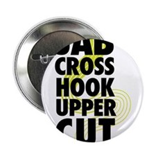 "Jab Cross Hook Upper-cut 2.25"" Button"