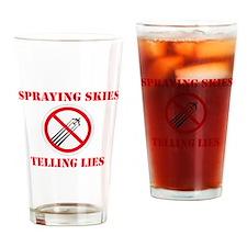 Anti Chemtrail #2 Drinking Glass