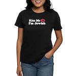 Kiss Me I'm Jewish Women's Dark T-Shirt