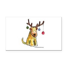 Wheaten terrier with Christmas Antlers Rectangle C