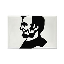 Abraham Lincoln Ink Profile Rectangle Magnet