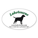 Labs4rescue Oval Decal