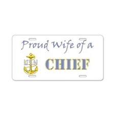 Chiefs Wife.png Aluminum License Plate