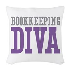 Bookkeeping DIVA Woven Throw Pillow