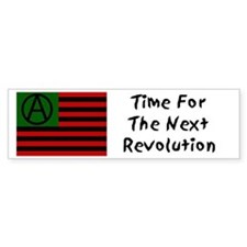 Anarchist American Flag Bumper Bumper Sticker