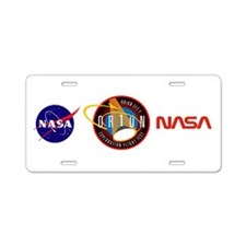 Exploration Flight Test 1 Aluminum License Plate