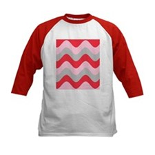 Pink Red Grey Squiggles Splendor 23 Baseball Jerse