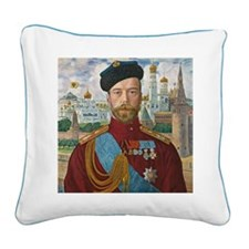 Tsar Nicholas II Square Canvas Pillow