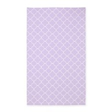 Purple White Quatrefoil 3'x5' Area Rug