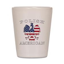 Polish American Flag Eagle Shot Glass