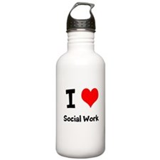 I heart Social Work Water Bottle