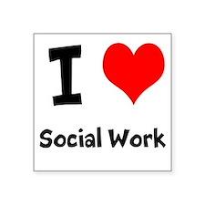 I heart Social Work Sticker
