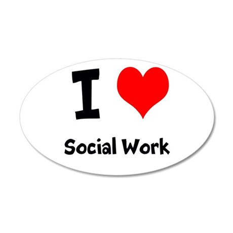 I heart Social Work Wall Decal
