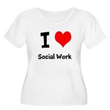 I heart Social Work Plus Size T-Shirt