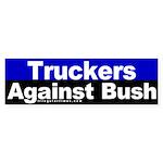 Truckers Against Bush Bumper Sticker